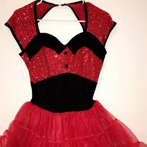 Red and Black Adult Large Jazz/Hip Hop Costume